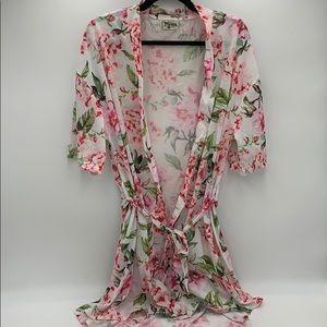 Show Me Your MuMu Brie Garden of Blooms Robe - EUC
